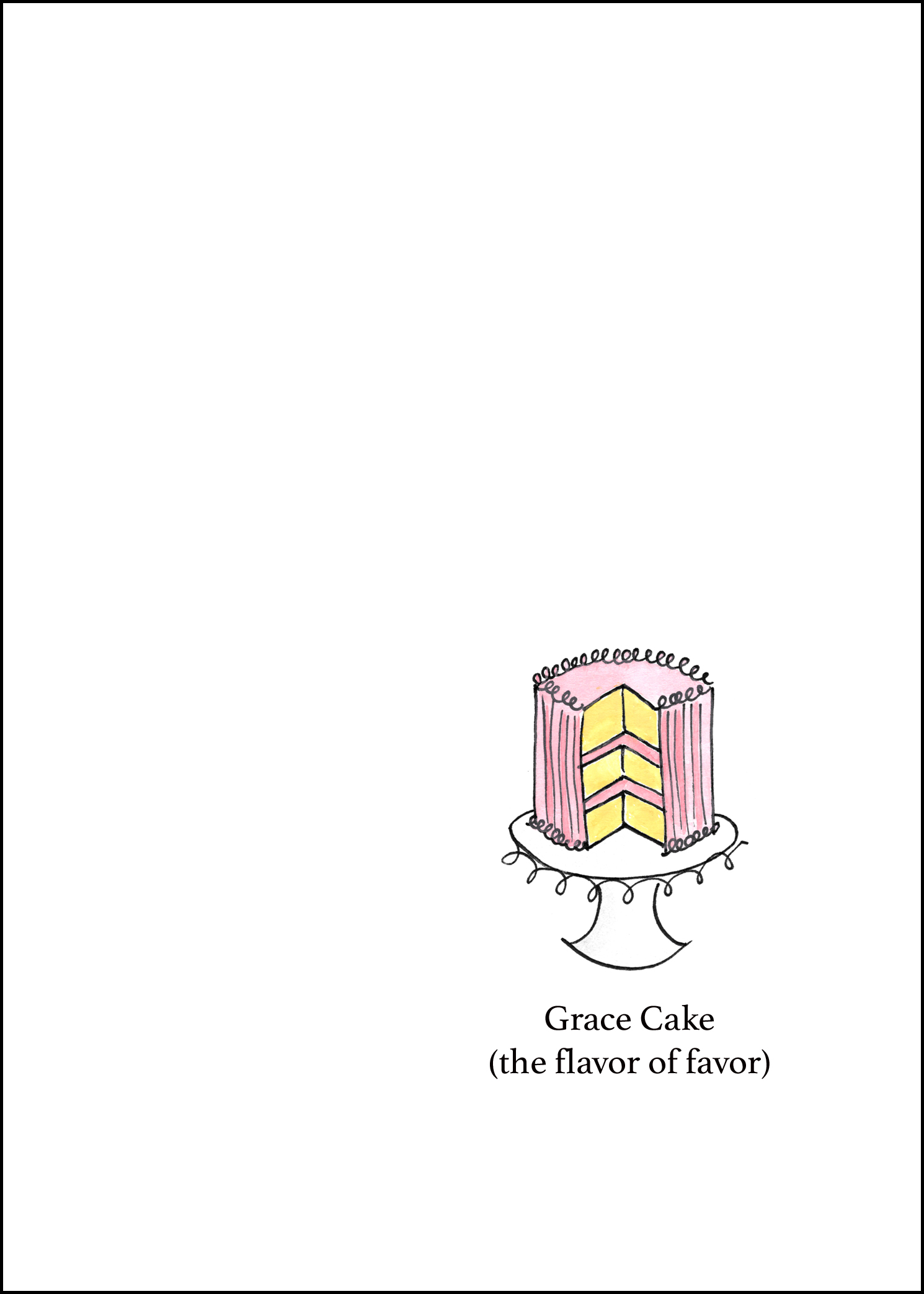 Grace Cake - by Anna Elkins